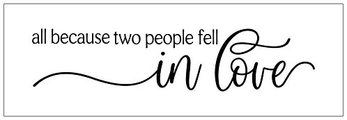 Two People Fell In Love; Plank Sign