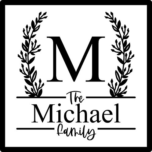 Personalized Family Name; Square Sign