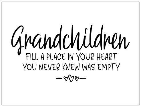 Grandchildren; Signature Sign