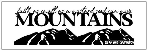 Mountains; Plank Sign