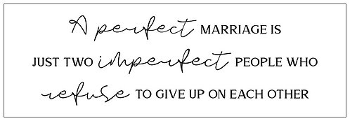 A Perfect Marriage; Plank Sign