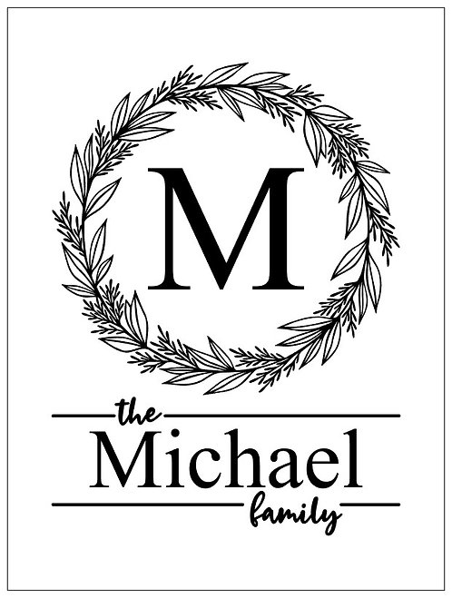 Personalized Family Sign; Signature Sign