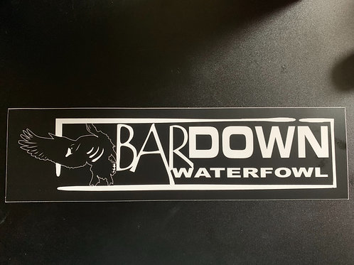 "3""x 11"" BarDown Waterfowl Sticker"