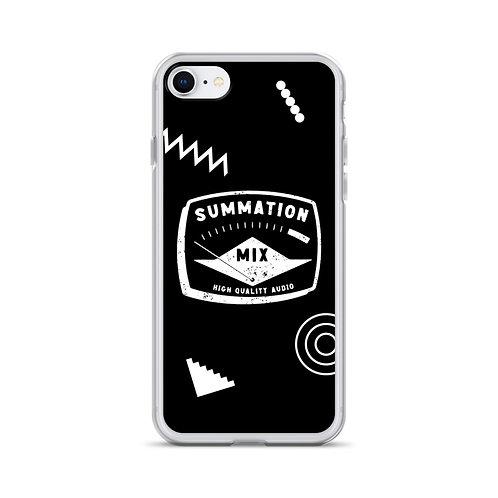 iPhone Case (Black) Geometric
