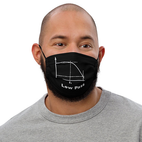 """Low Pass Filter"" Premium face mask (Black)"