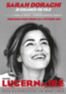 Affiche Sarah Doraghi Lucernaire prolong