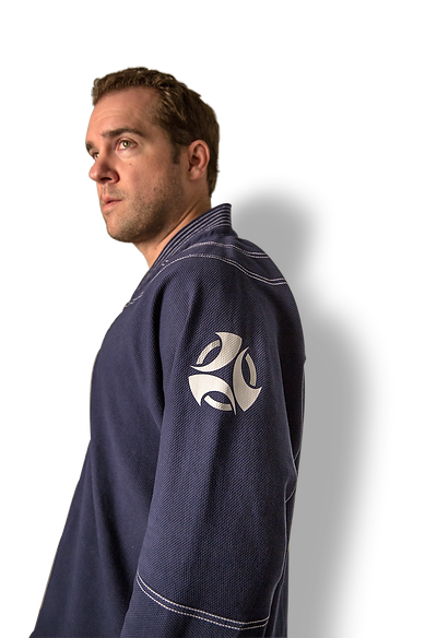 Founder of Jiu Jitsu Jammies wearing a cotton pajama set