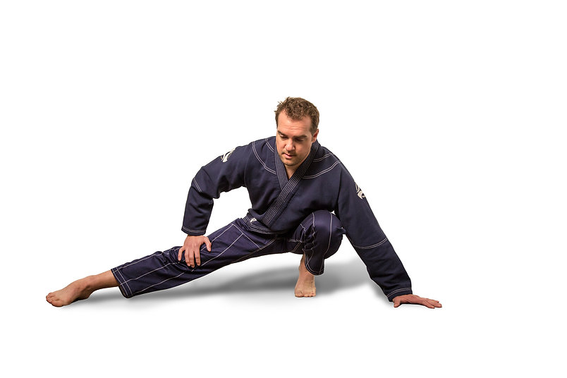 Model wearing Jiu Jitsu Jammies
