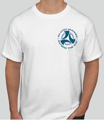 Adult Jammie Logo White Tee Shirt