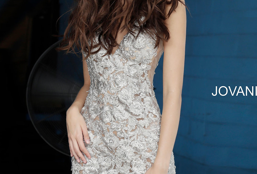 Jovani Applique Fitted Dress 4083