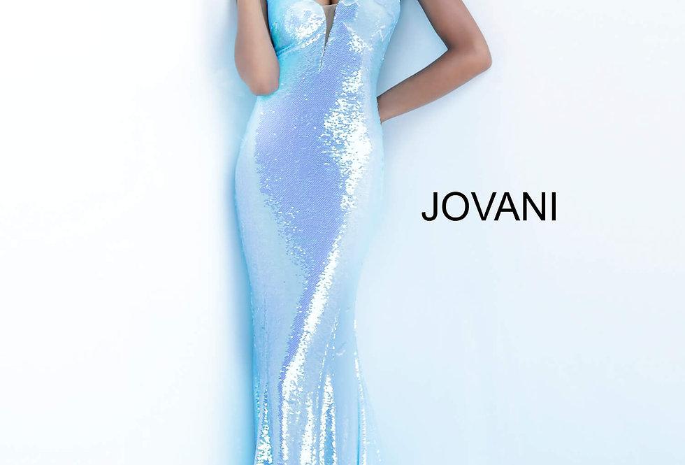 Jovani V-Neck Sequins Dress 65070