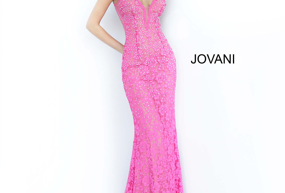 Jovani Fitted Lace Dress 48994