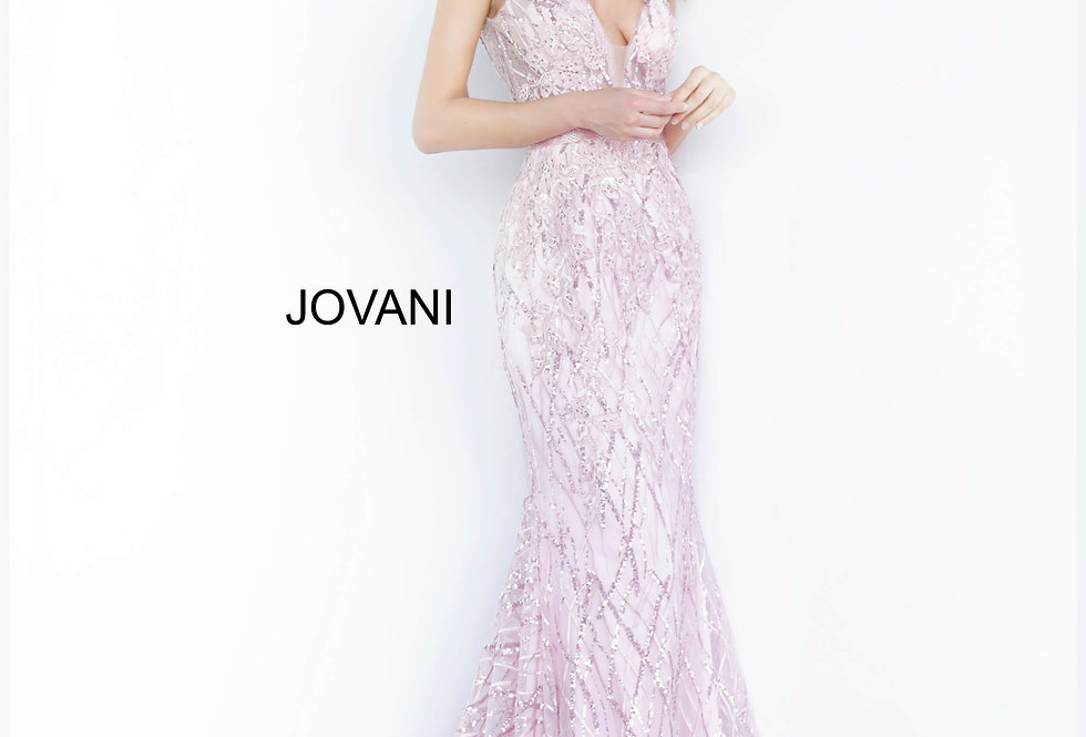 Jovani Long Glitter Dress 02245