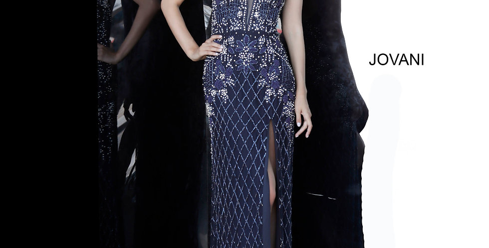 Jovani Long Beaded Dress 66778