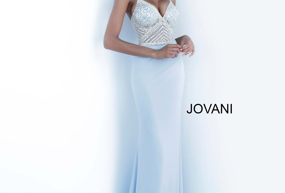 Jovani Fitted Jersey Dress 63147