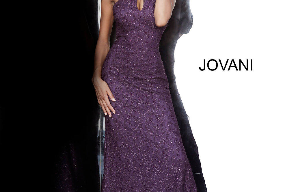 Jovani High Neckline Lace Dress 4032