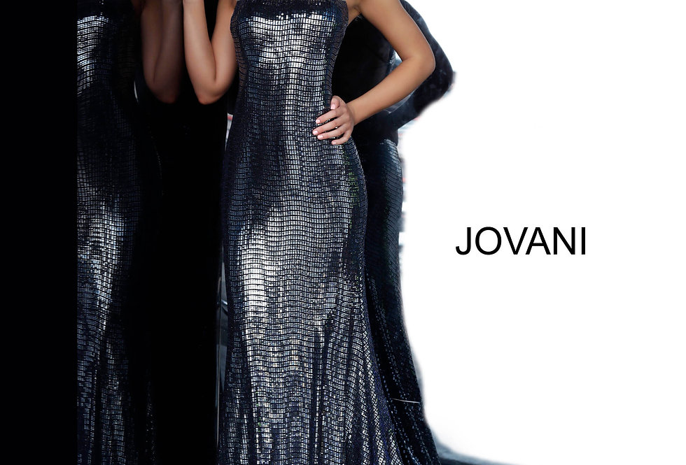 Jovani Long Fitted Dress 02076