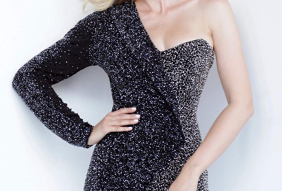 Jovani Short Black Fitted Dress 3731