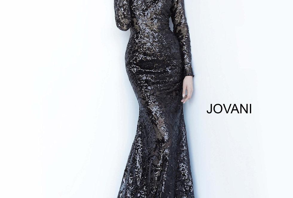 Jovani Long Sleeve Sequins Dress 55535