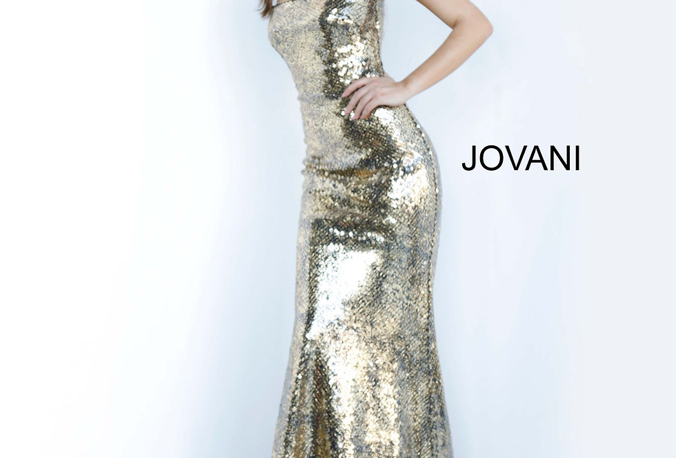 Jovani Straples Sequins Dress 3390