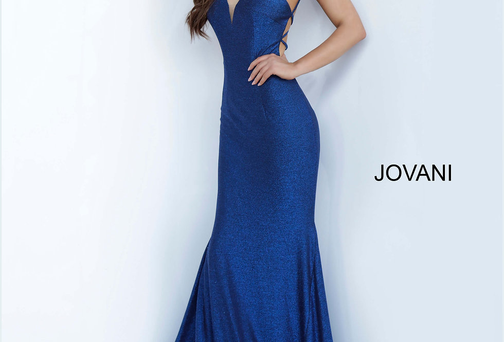 Jovani Stretch Glitter Fitted Dress 4221