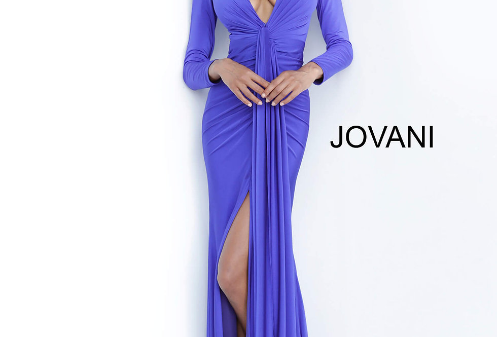 Jovani Long Sleeve Jersey Dress 64983