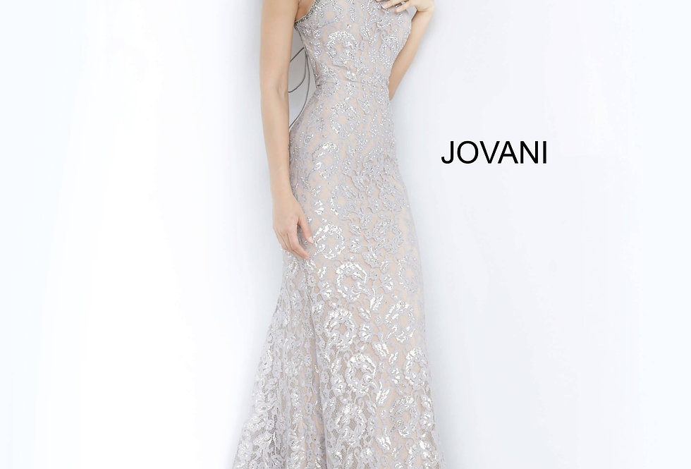 Jovani Long Shimmer Dress 00355