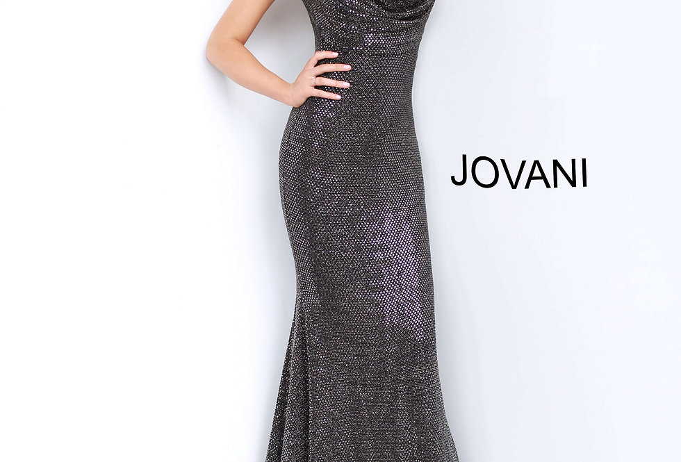 Jovani Open Back Sequins Dress 3392