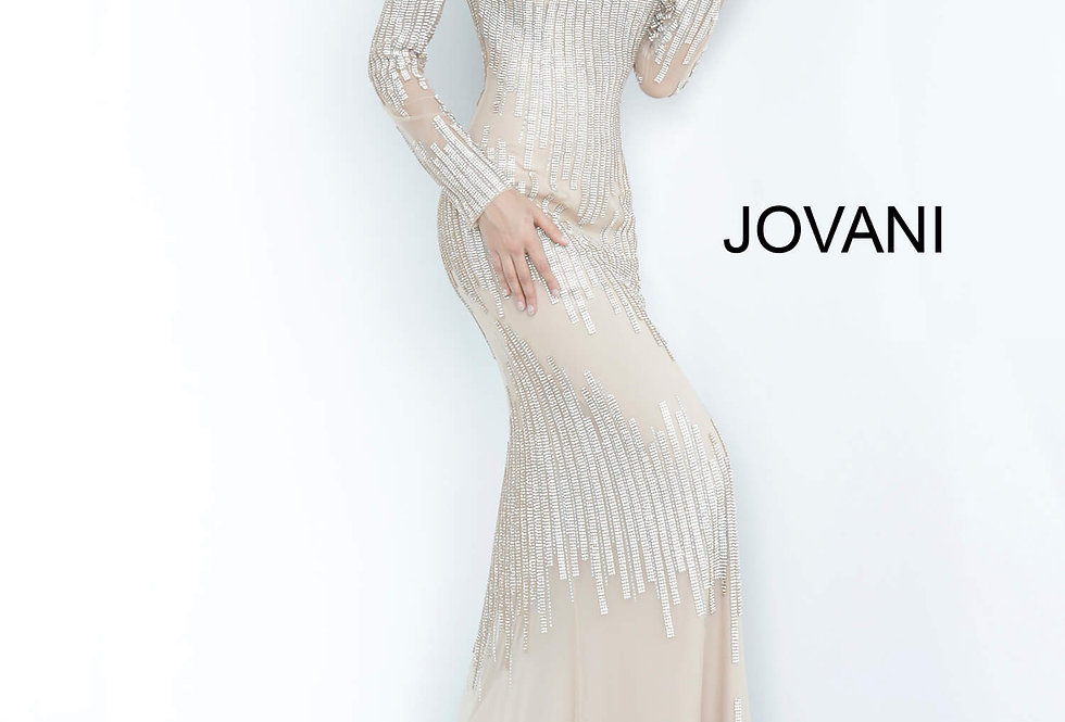 Jovani Long Beaded Dress 3601