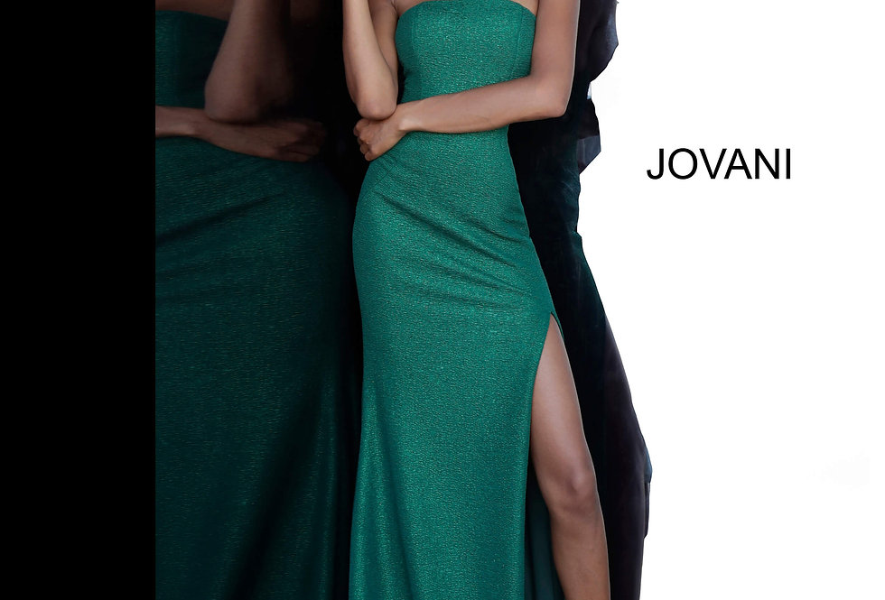 Jovani Strapless Glitter Dress 8063