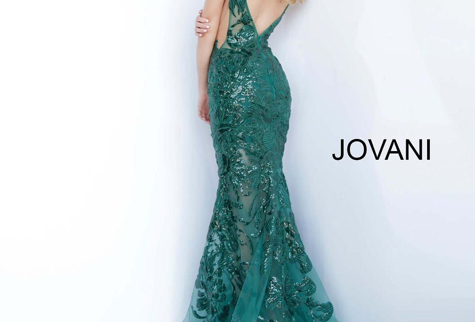 Jovani Sequins Fitted Dress 60283