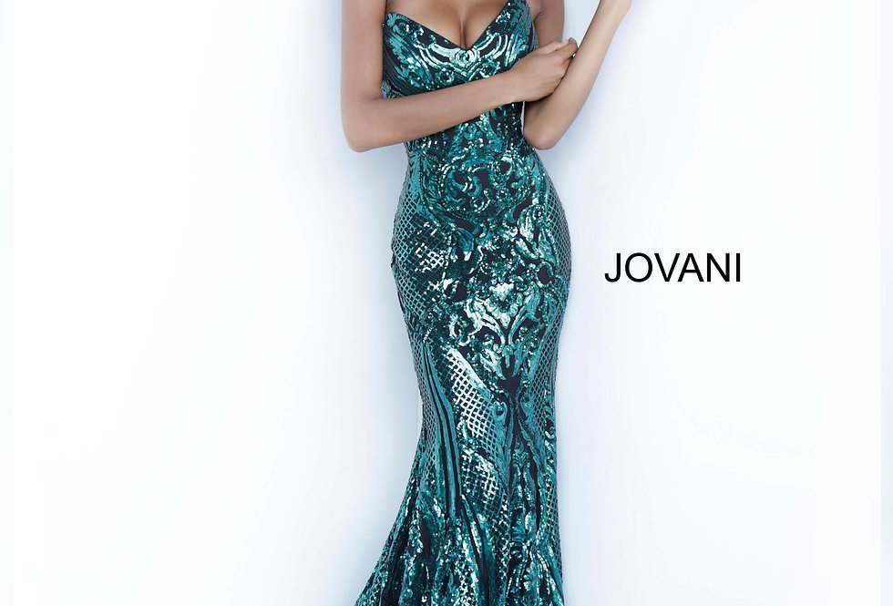 Jovani Strapless Sequins Dress 2670