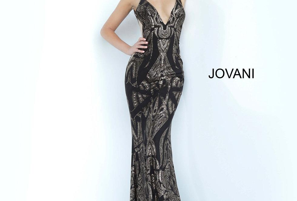 Jovani V-Neck Fitted Dress 3287