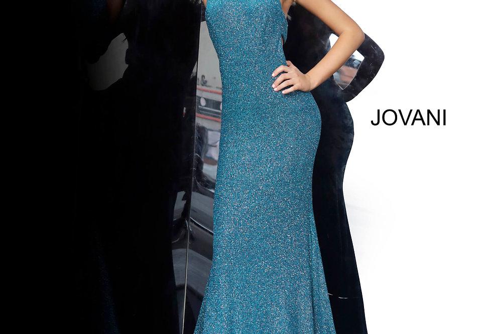Jovani Long Shimmer Dress 02467