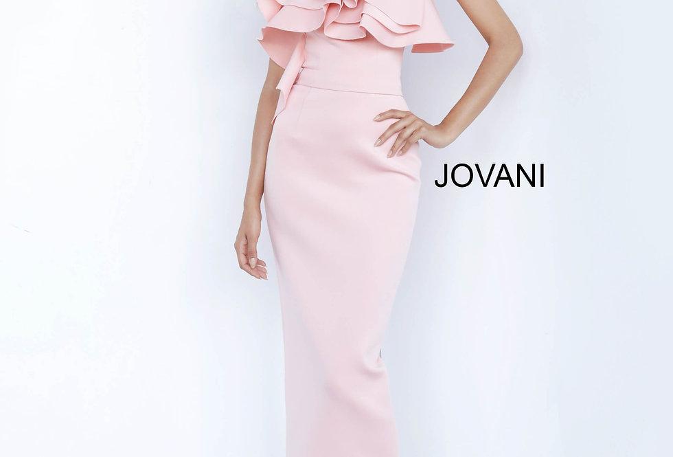 Jovani Short One Shoulder Fitted Dress 1306