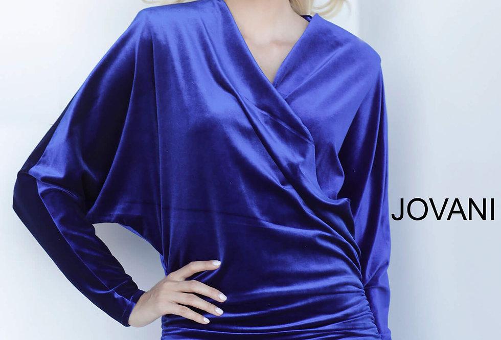 Jovani Short Fitted Sleeved Dress 3580