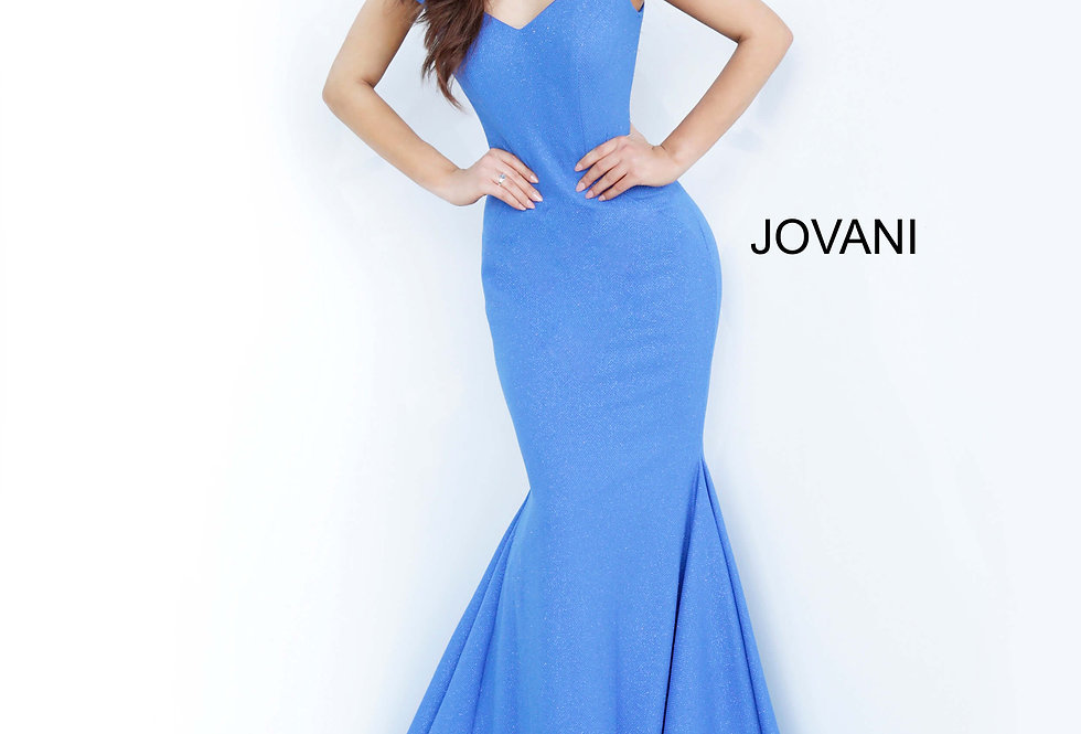 Jovani Off The Shoulder Fitted Dress 55187