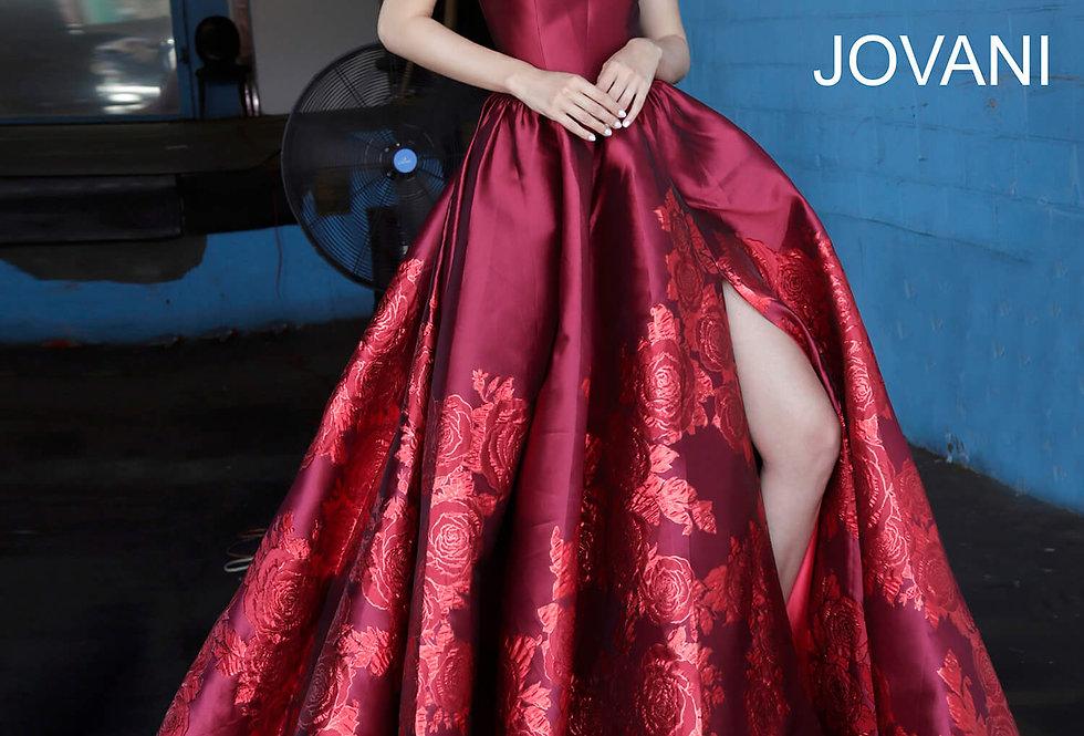 Jovani Strapless Ball Gown Dress 02038