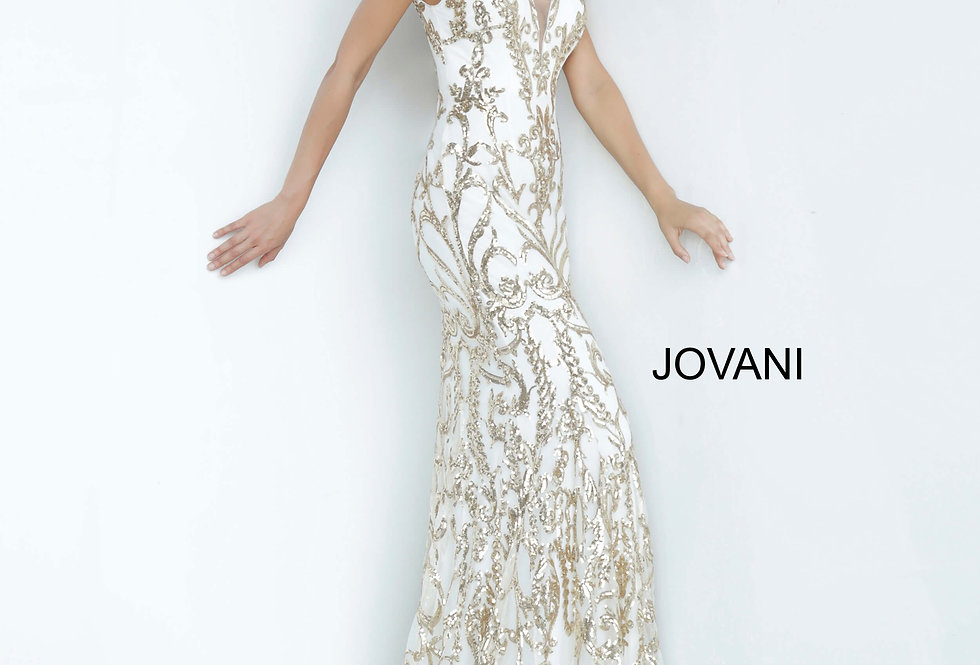 Jovani Cap Sleeve Fitted Dress 63349