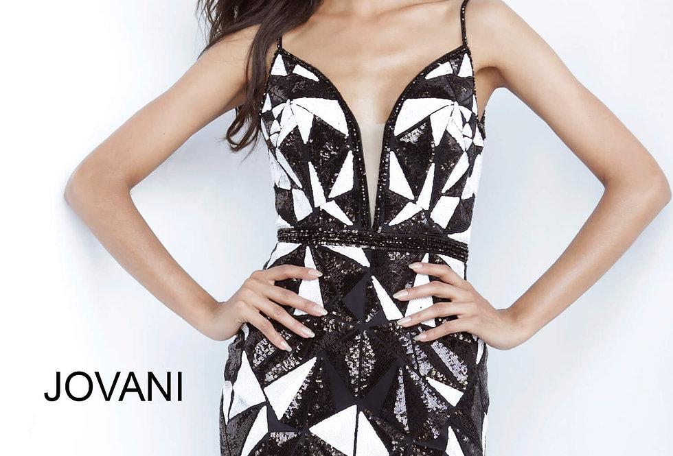 Jovani Short Fitted Print Dress 2251