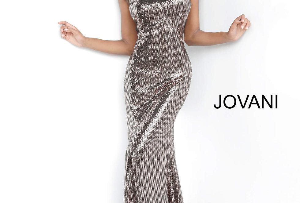 Jovani Fully Beaded Halter Dress 2812