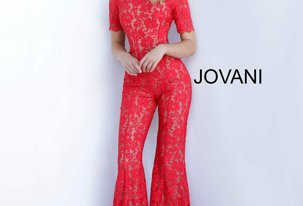 Jovani Lace Jumpsuit Dress 00651