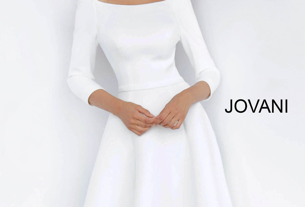Jovani Short Sleeved A Line Dress 3318