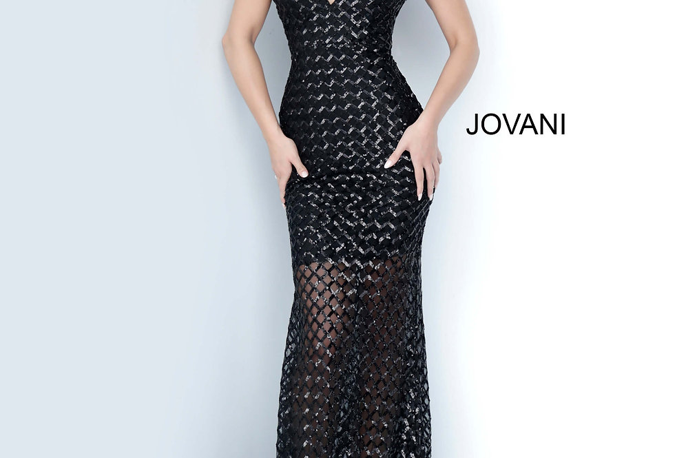 Jovani Long Sequined Dress 66793