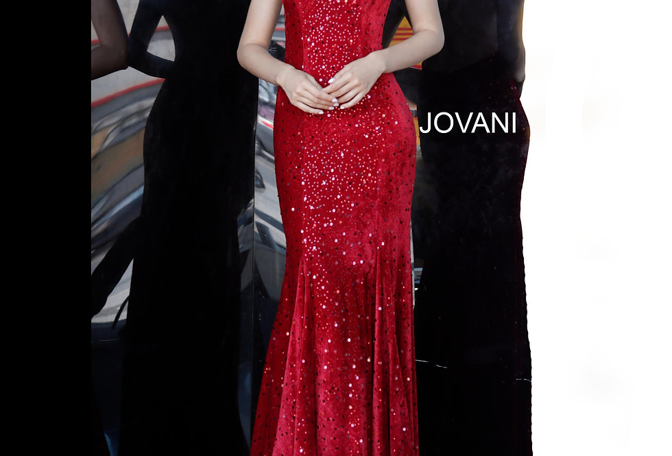 Jovani Fitted Beaded Dress 63895