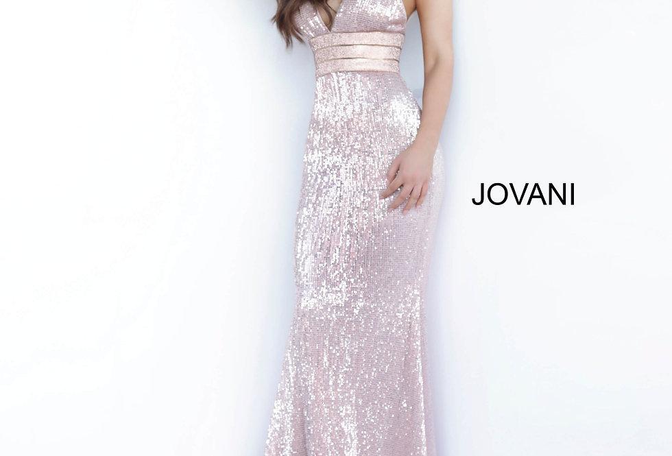 Jovani V-Neck Sequins Dress 4697