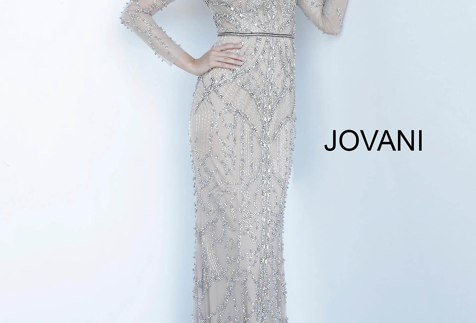Jovani Long Fitted Dress 68305