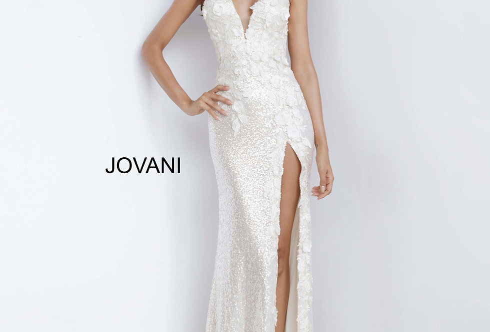 Jovani Long FItted Dress 1012