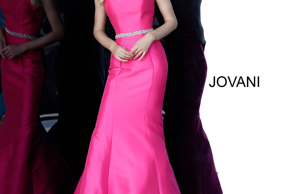 Jovani Strapless Taffeta Dress 67966
