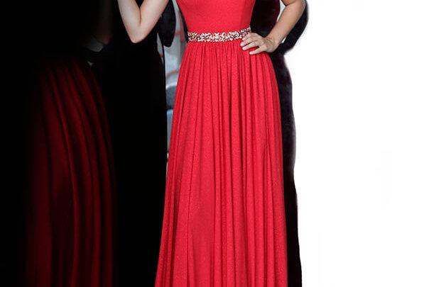 Jovani Long Beaded Dress 02379